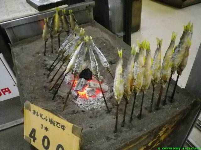 """Fish-Fry"" Japan style. Goes good with Wasabi Beer. Outside of a waterfall area."